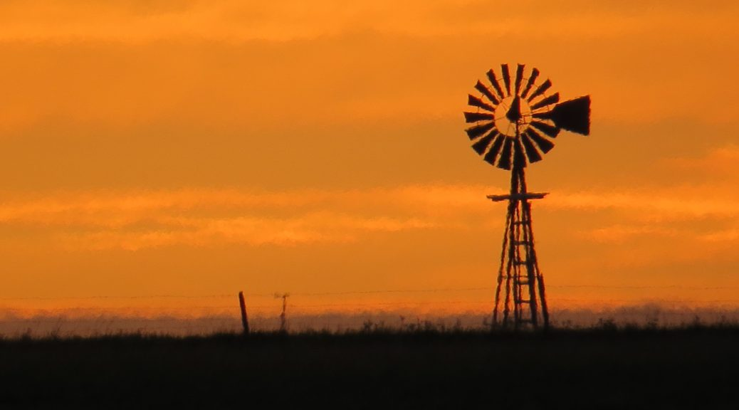 High prairie windmill.