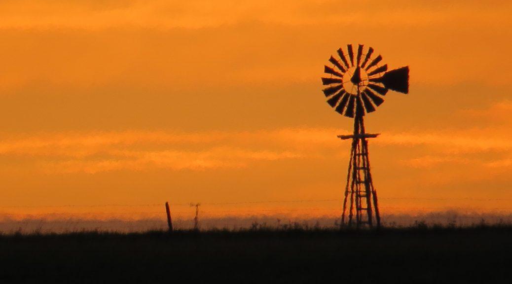 High prairie windmill.